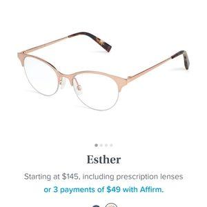 Esther warby Parker glasses no prescription